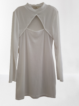 Ivory Cut Out Sweater Dress