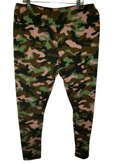 Olive Camo High Waist Wide Pants