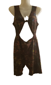 Baby Phat Dark Camo Front Out Jump Suit