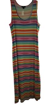 Multi Pencil Strap Slit Side Dress