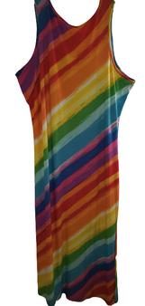 Diagonal Pencil Strap Slit Side Dress