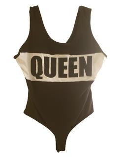 Black Queen Block Body Suit