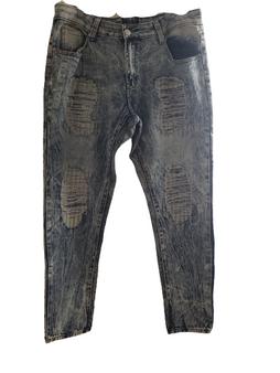 Blue Ice Acid Distressed Jeans
