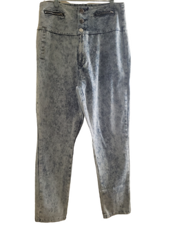 Blue Lite Acid High Waist Jeans