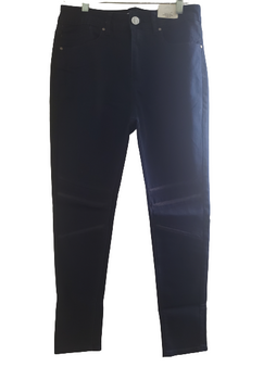 Dark Blue Net Knee Jeans