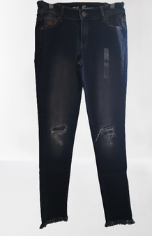 Medium Blast Ripped Fray Jeans