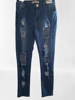 Medium Blast Ripped Block Jeans