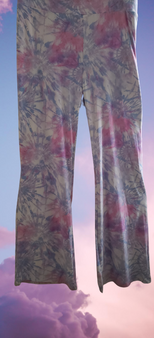 Pink Blue Tye Dye Wide