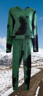 Granny Green Rib Pants 2PC