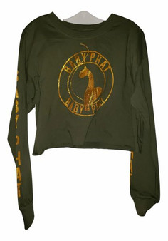 Baby Phat Green Gold Top