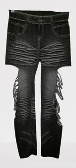 Gray Washed Cut Leggings