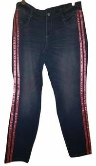 Blue Pink Stripe Jeans
