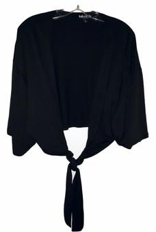 Black Tie Front Kimono