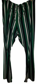 Green Stripe Wide Leg