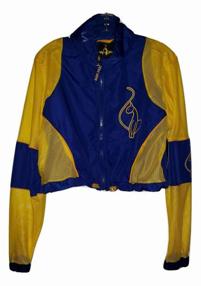 Baby Phat Blue Yellow Long Sleeve Wind Breaker