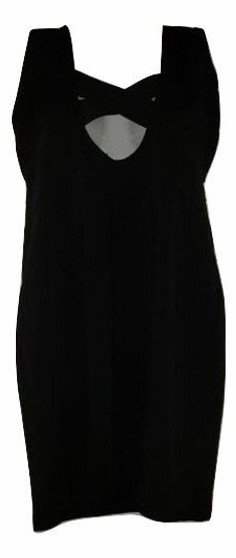 Black Sexy Hollow-Out Cut Dress