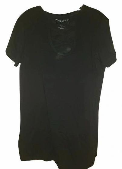 Black Front Tie  Front Top