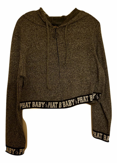 Baby Phat Charcoal Gray Zipper Hoodie Jacket