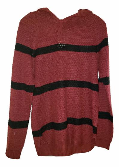 Burgundy LS Sweater Hoodie