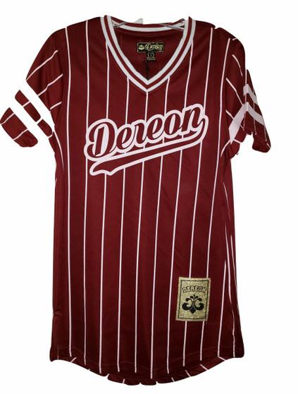 Dereon Burgundy White Stripe Jersey