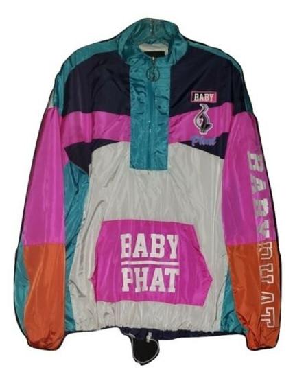 Baby Phat Pink Colorful Zip Wind Breaker