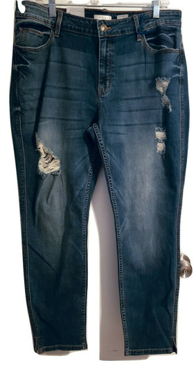 Blue Fade Distressed Jeans