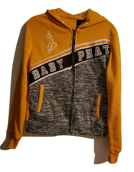 Baby Phat Yellow Gray Zip Jacket