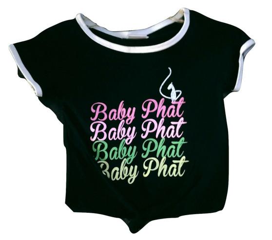 Baby Phat Black Pink Tie Front Shirt