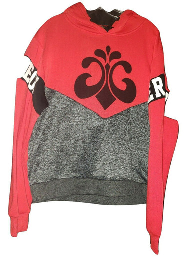Dereon Black Red Gray Pull Over Hoodie