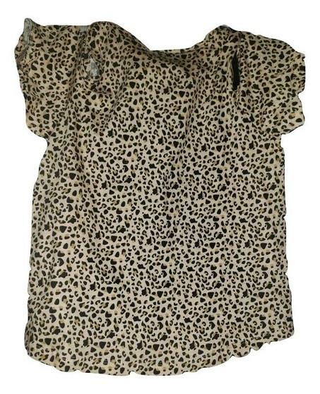 Baby Phat Cheeta Print Over Shoulder Shirt