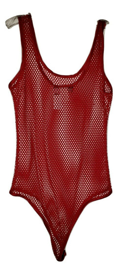 Red Net Body Suit