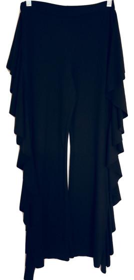 Black Ruffle Flare Pants