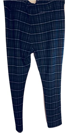 Black Wine Plaid Pants