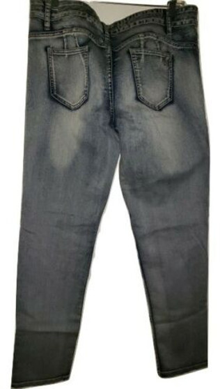 Blue Wash Faded Ripped Jeans