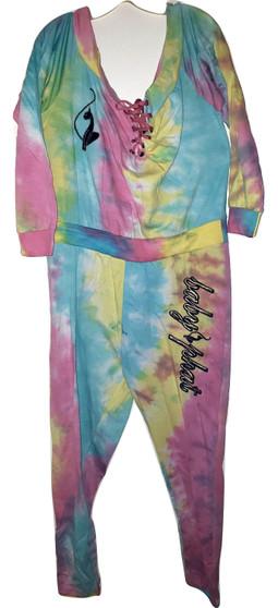 Baby Phat Rain Bow Shoulder Jump Suit