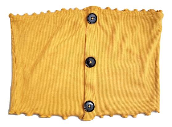 Mustard Rib Button Tube