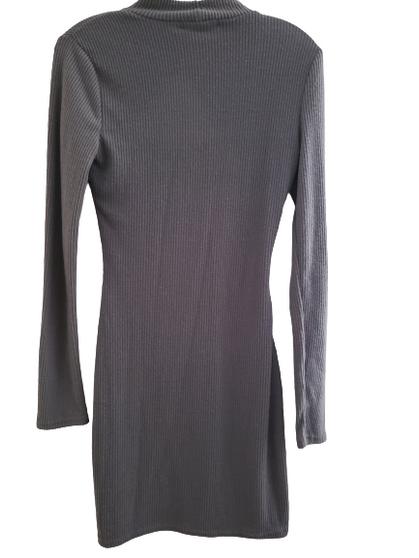 Gray Cut Out Body Con Dress