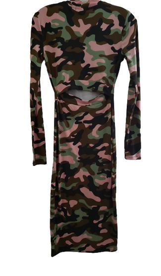 Camo Cut Out Body Con Dress