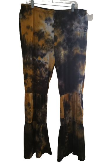 Mustard Charcoal Tier Wide Palazzo's