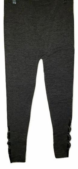 Dark Gray Braid Leggings