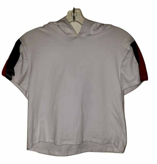White Red Black Stripe Top