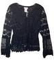 Black Lace Crochet Bell