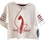 Baby Phat White Pink Distressed