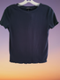 Navy Blue Rib Top