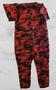 Red Black Over Shoulder Camo Jumpsuit