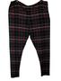 Black Pink Plaid High Waist Pants