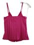 Pink Rib Zipper Down Top