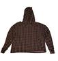 Tan Black Checkered Hood Hacci
