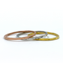 1mm Rings. Gold, Serling Silver and Rose Gold