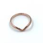 Rose Gold V Ring